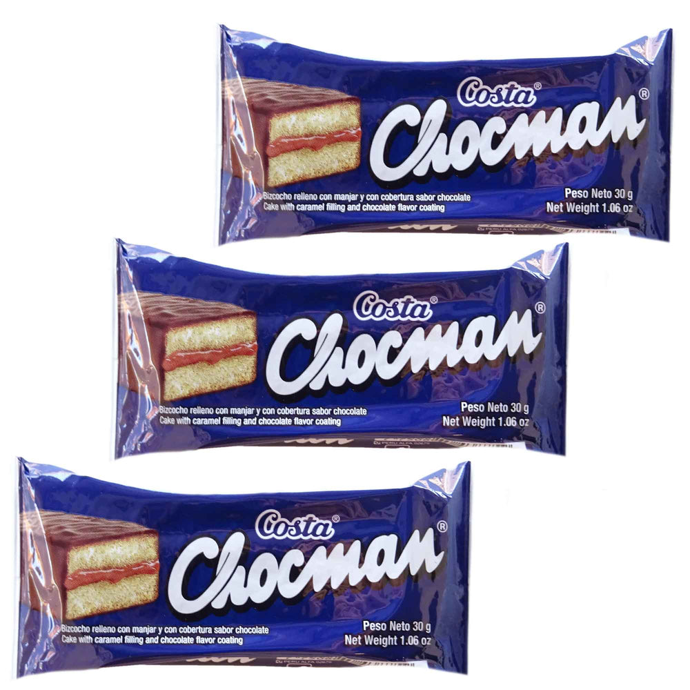 Chocman Costa - Pack 3 x 30g