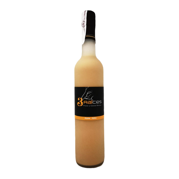 Pisco y Cacao Blanco 3 Raíces 500 ml