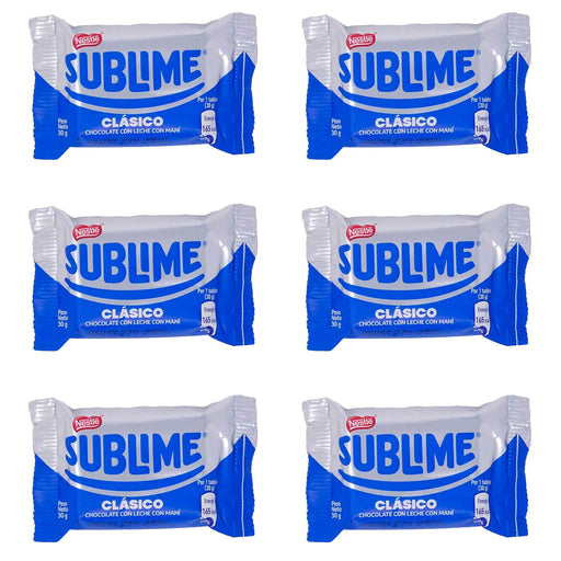 Chocolate Sublime Clásico - Pack 6 x 30 g