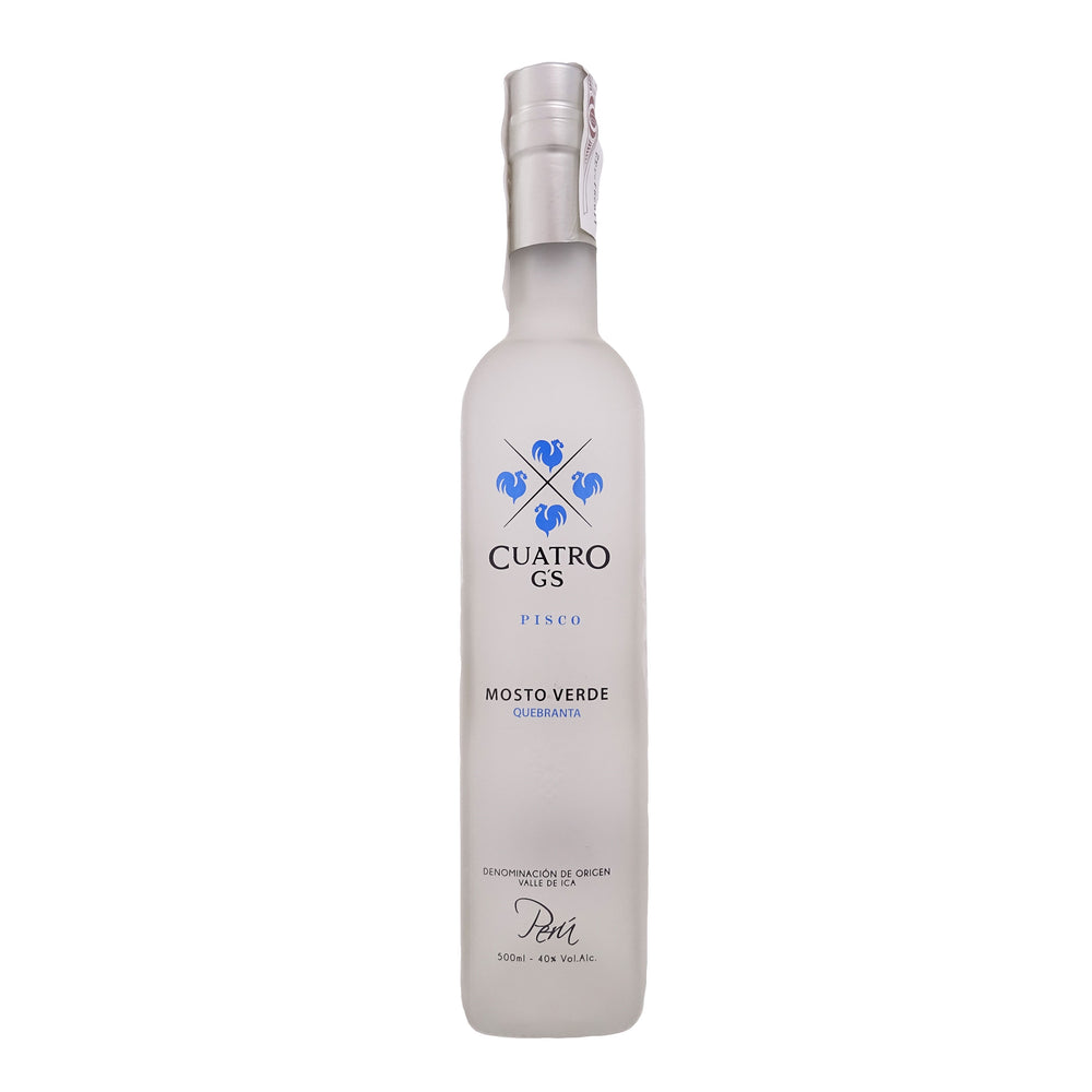 Pisco Cuatro Gallos Mosto Verde Quebranta 500 ml