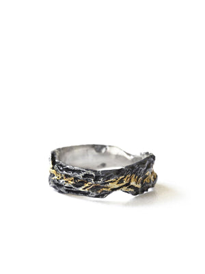 Atelier Hon'ne Dawn #1 Ring - Black & Gold