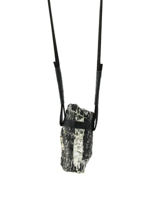 Black Tourmaline - Mica Necklace