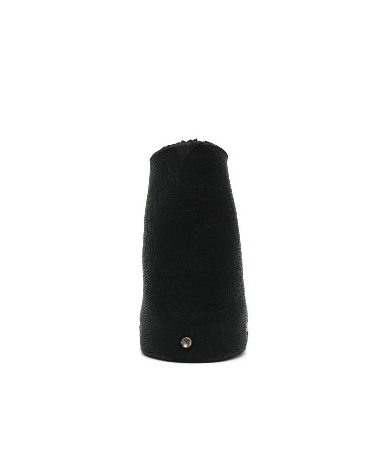 Detaj Middle Black Leather Ring