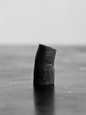 Detaj Long Bandage Ring - Black
