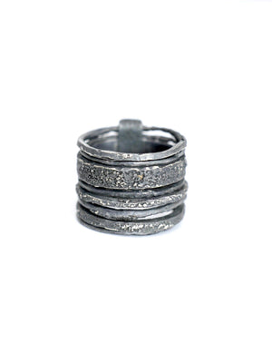 Pal Offner Grouper Ring - Blackened