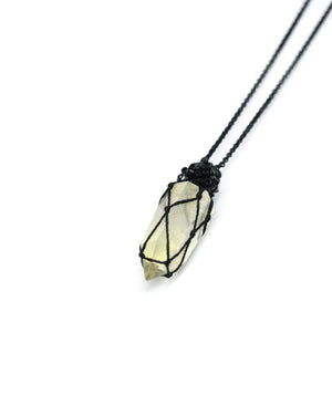 Jacki Holland Petite Citrine Point Necklace