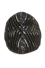 Tobias Wistisen Wide Braid Wire Ring - Black