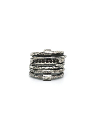 Tobias Wistisen Bar Multiple Stone Ring