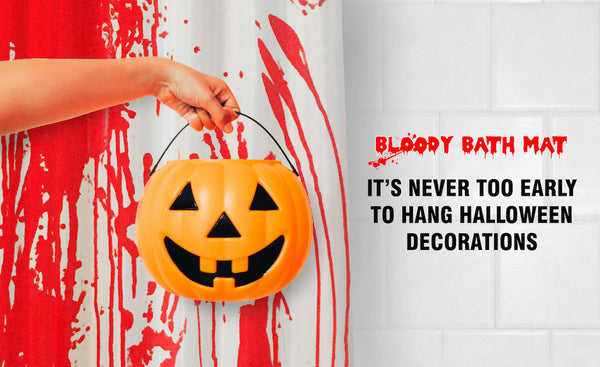 Bloody Bath Mat and Shower Curtain