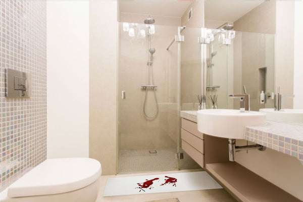 Bloody Rug for Bathroom