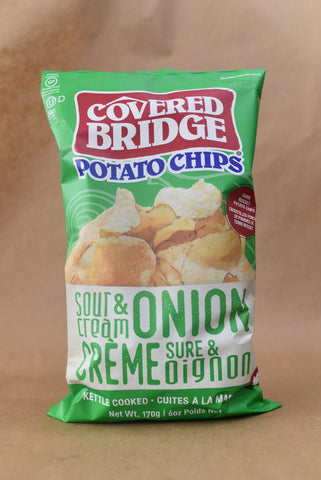 COVERED BRIDGE CHIPS  — SOUR CREAM AND ONION (BIG GUY)