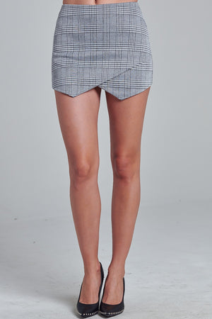 Shawty's checkered plaid mini Skort