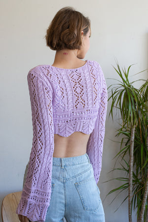 Heavenly Knots knit crochet cropped Top - restocking soon!