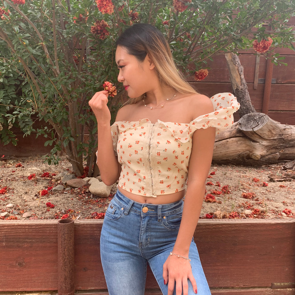 Twirling Ballerina off the shoulder Top