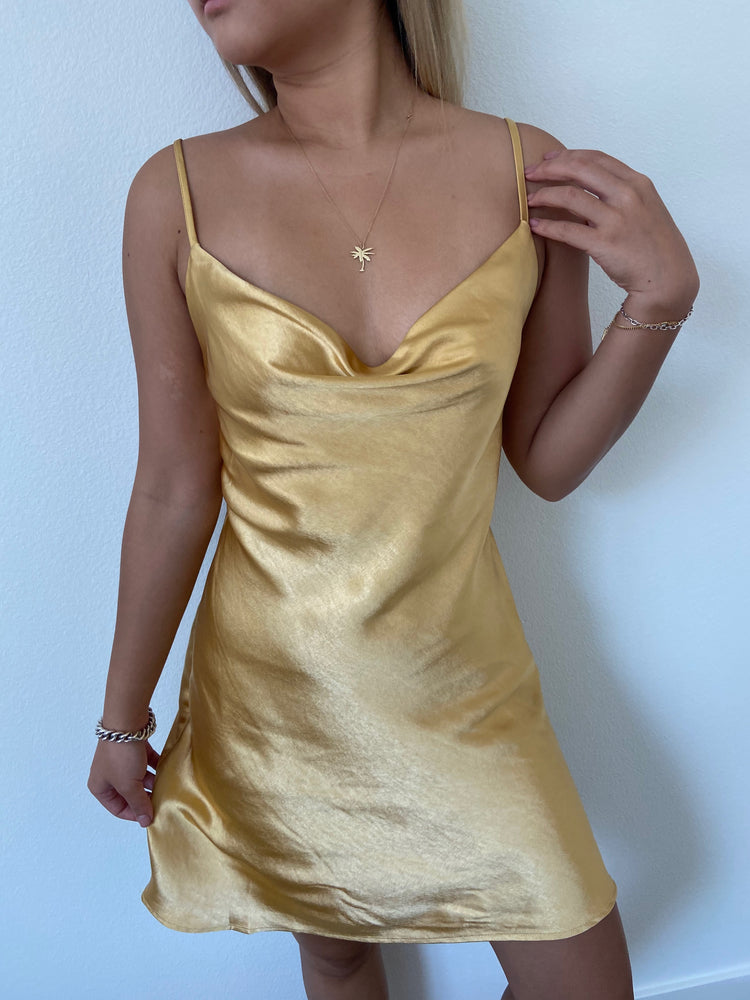 Golden Hour silky smooth slip Dress