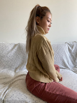 Chandelier cable knit turtle neck Sweater