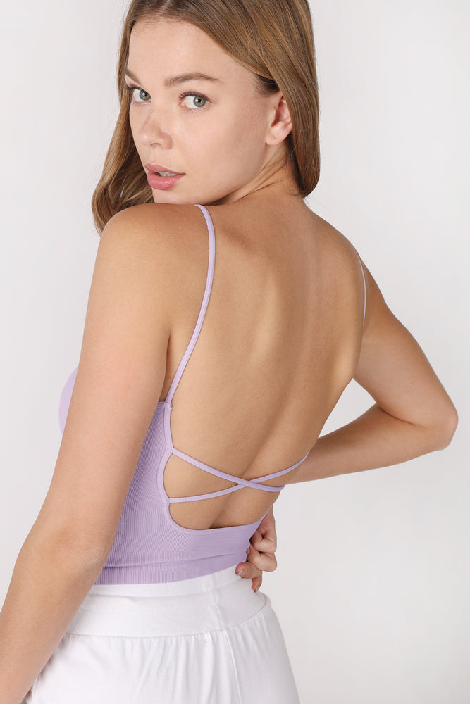 The X Back cropped cami Tank - New!