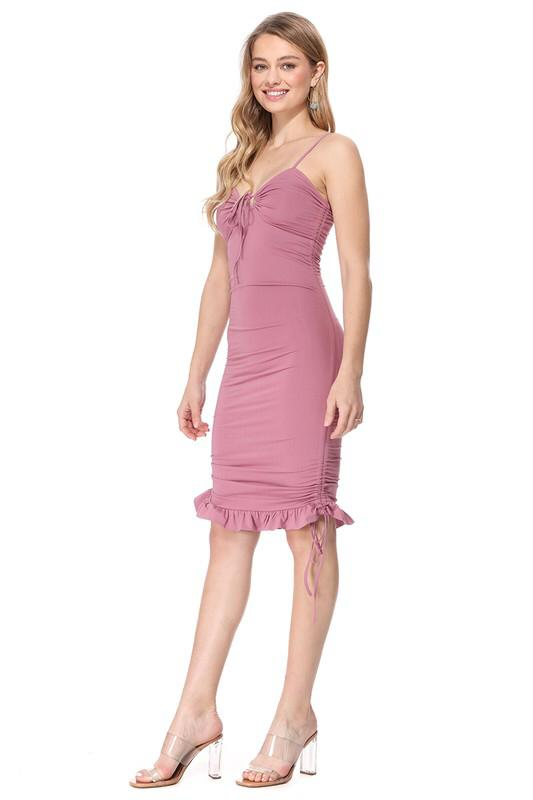 Patty Cake mauve pink ruched Dress