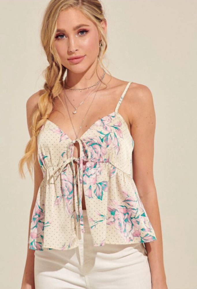 Lili Delight tie front Tank Top