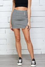 Boss Babe checkered Skirt