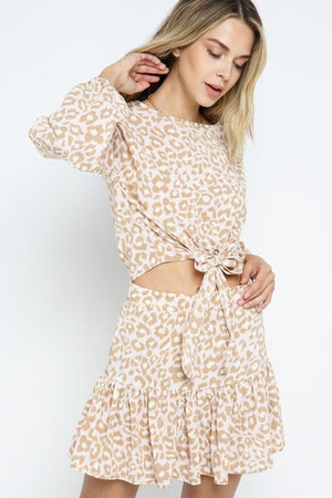 Wild Sweets leopard patterned long sleeve Top