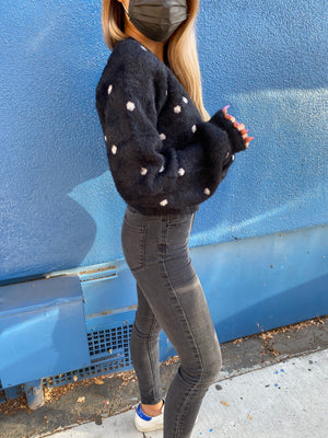 Minnie's Favorite polka dot sweater knit Cardigan - only 1 left!