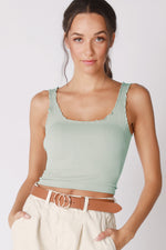 Ruffled Cute AF cropped Tank Top (New Colors Added!)