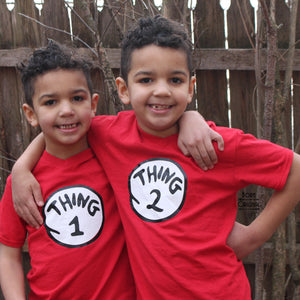 174d2d505b Twinning Thing 1 & Thing 2 Matching Family Shirts