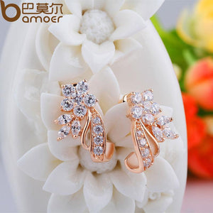 Bamoer Flower Stud Earrings