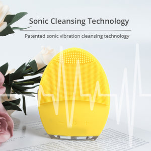 USB Rechargeable Silicone Facial Cleansing Pad