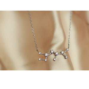 925 Sterling Silver Zodiac Constellations Necklace