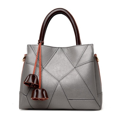Genuine Leather Patchwork Handbag
