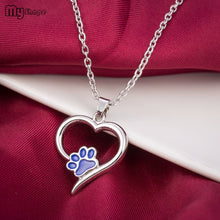 Always In My Heart Paw Print Necklace