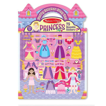 Set de Stickers Reusables: Princesas