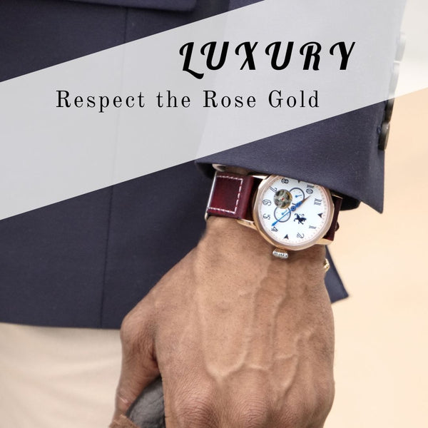 luxury rose gold watches for men