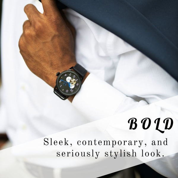 Black watches for men business