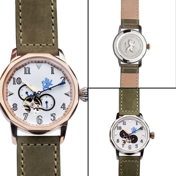 grey leather straps for men's watches