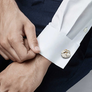 watch cufflinks recycled