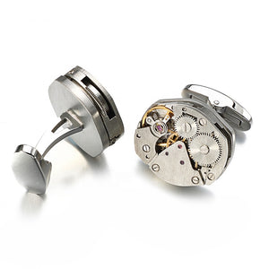 unique cufflinks watch movements