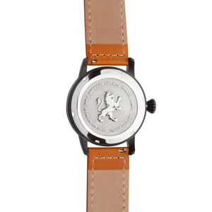 Black Steel with Burnt Orange Leather - Samuel James Watches