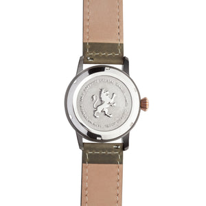 Gun Metal Steel with Pewter Grey Leather - Samuel James Watches