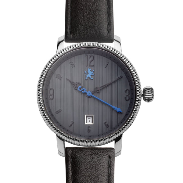 Dark Silver with Matte Black Leather - Samuel James Watches