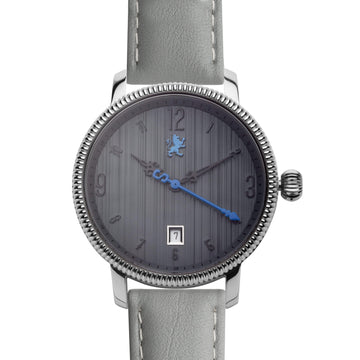 Dark Silver with Slate Grey Leather - Samuel James Watches
