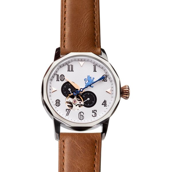 Gun Metal Steel with Saddle Brown Leather - Samuel James Watches
