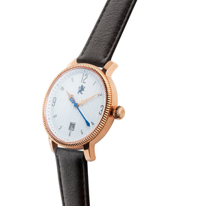 Rose Gold with Matte Black Leather - Samuel James Watches