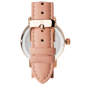 Rose Gold with Peach Leather Strap - Samuel James Watches
