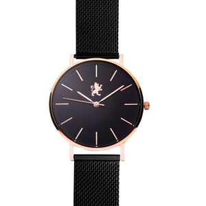 Black Rose with Black Mesh Bracelet - Samuel James Watches