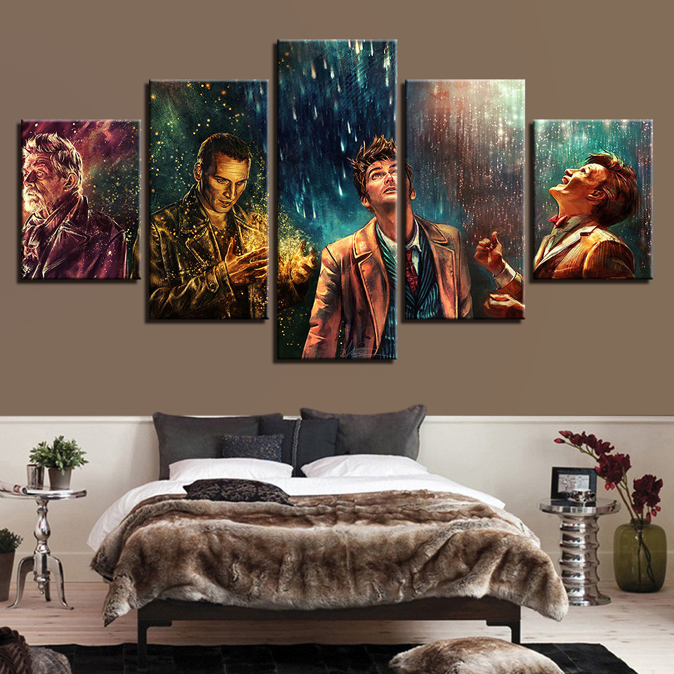 5 Pieces Doctor Who Movie Characters Living Room Home Decor Painting Poster