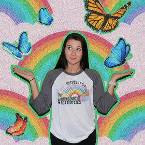 All Rainbow & Butterflies Tee