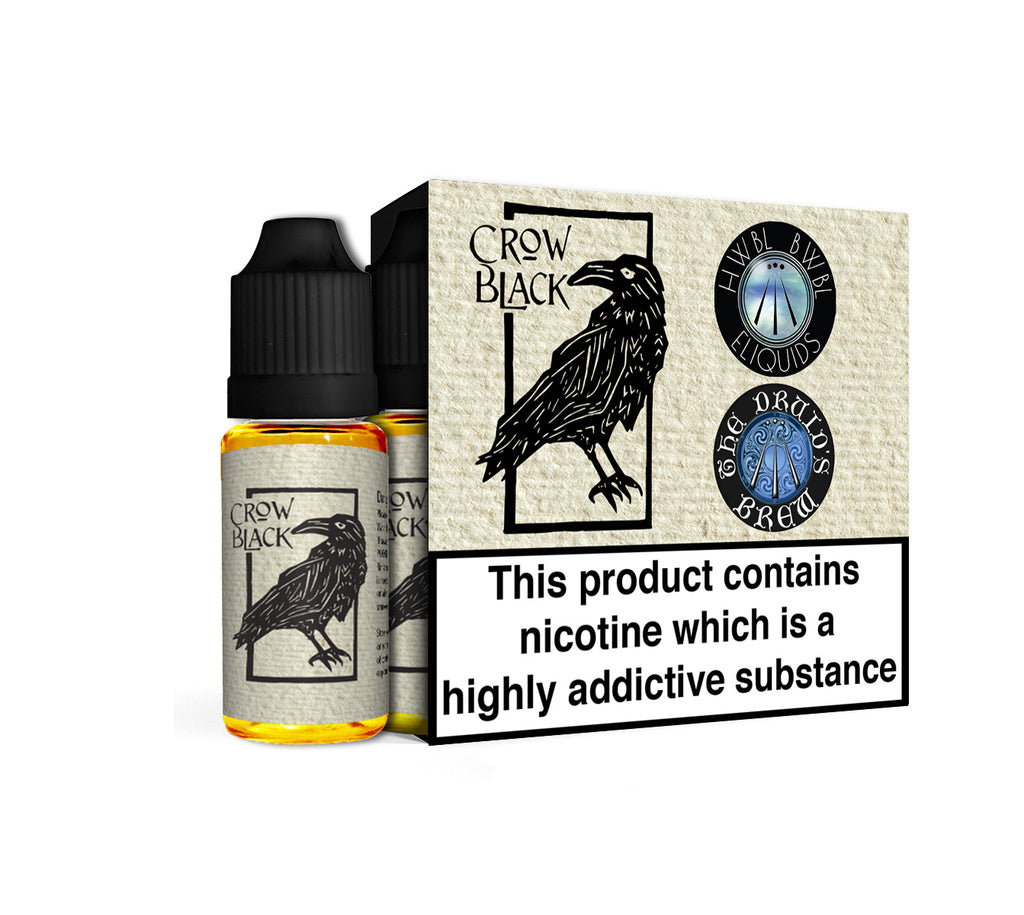 Crow Black - 18mg for short fill top up Contains Nicotine